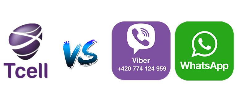 Tcell Tj против Whatsapp и Viber