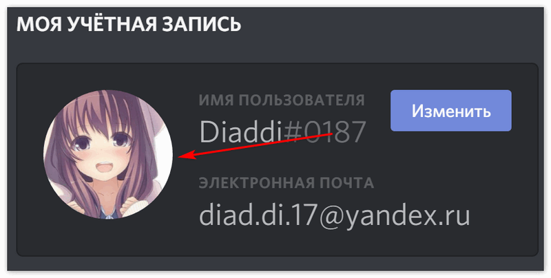 Аватар в Дискорд