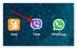 Иконка Вайбер на телефоне