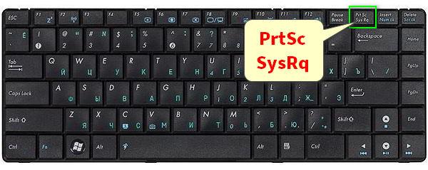 Кнопка PrtSc SysRq на клавиатуре