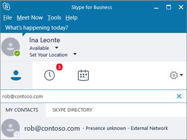 Скайп для бизнеса Интерфейс