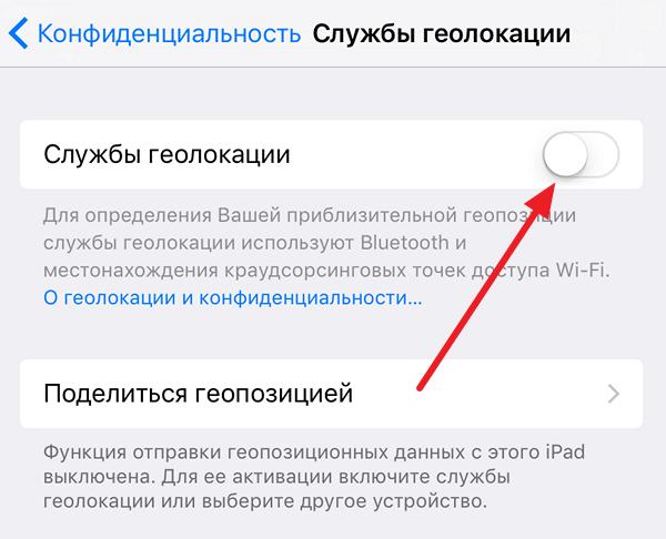 Службы геолокации на iOS