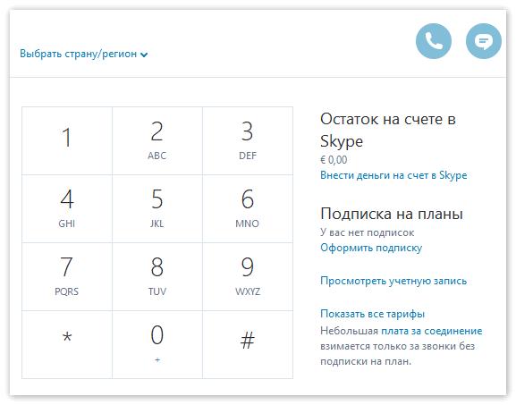 Звонок на номер телефона через Скайп