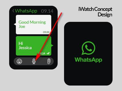 Голосовое сообщение в WhatsApp на Apple Watch