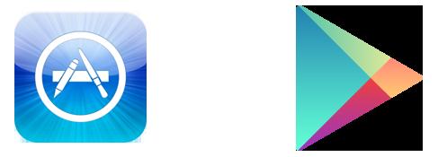 Иконки App Store и Google Play