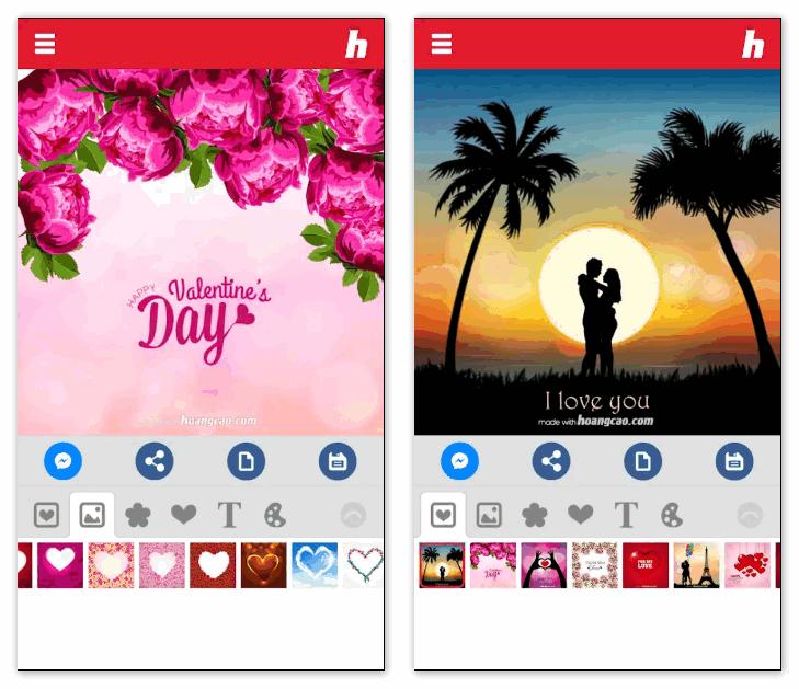 Любовные открытки-валентинки